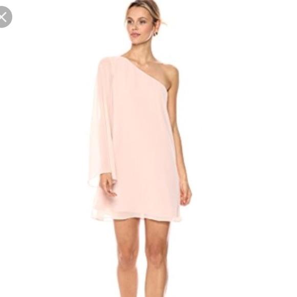 f687142724d BCBG Generation One Shoulder Chiffon Dress - NEW!